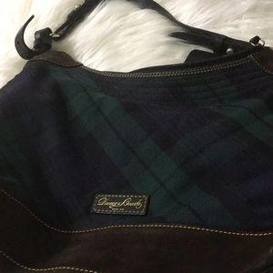 Dooney & Burke plaid/tartan with suede handbag